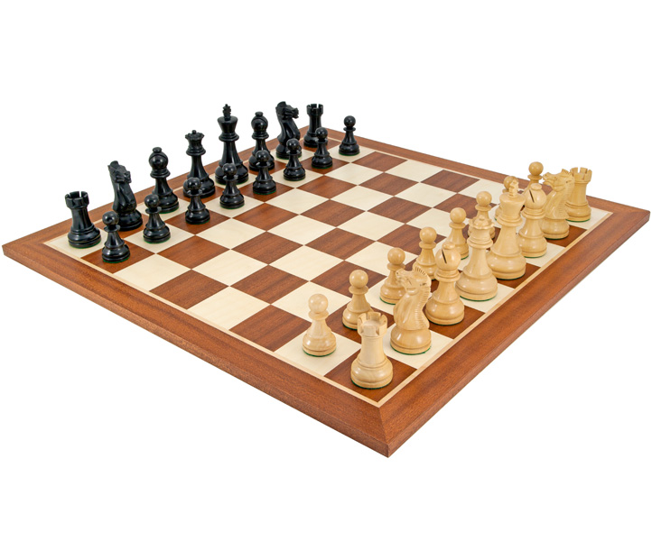 Frankfurt Black & Mahogany Chess Set