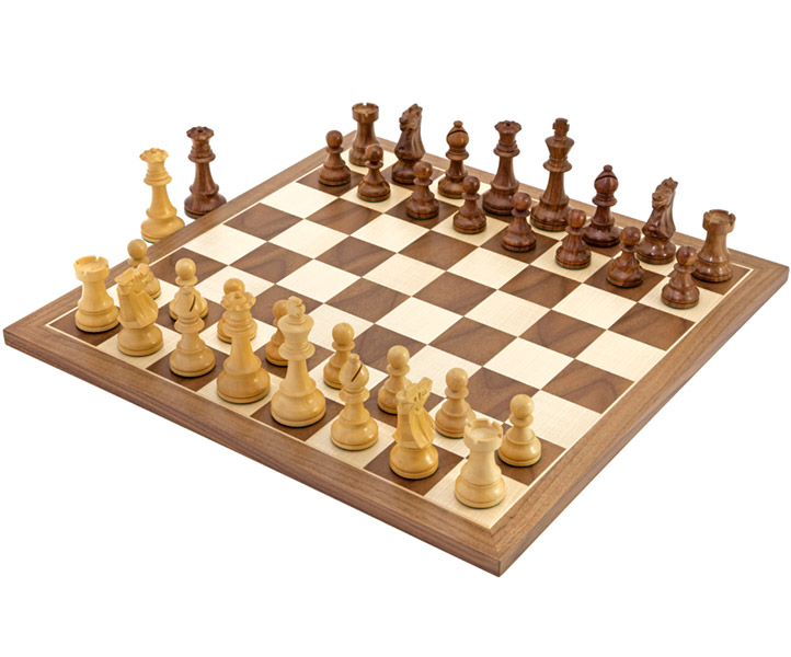 British Sheesham and Walnut Chess set