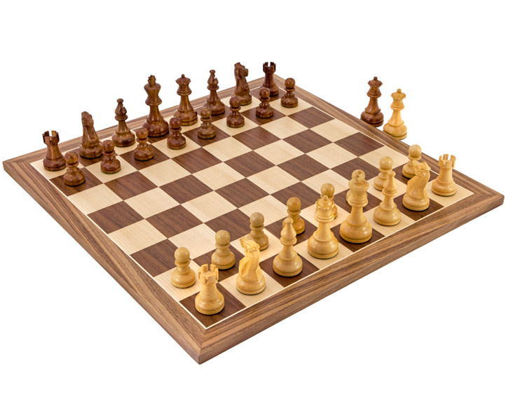 American Sheesham and Walnut Chess set