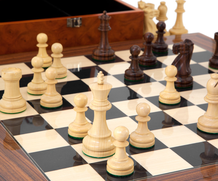 Supreme Rosewood Chess Set with Burl Wood Case [RCPB244] - £294.99 - Chess  Sets UK, The UK's Number One Chess Set Retailer