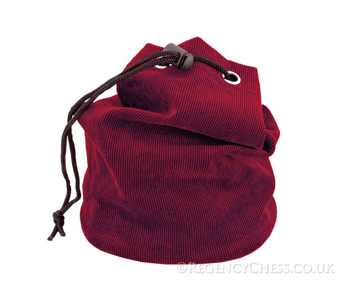 Red Fabric Chess Piece Bag