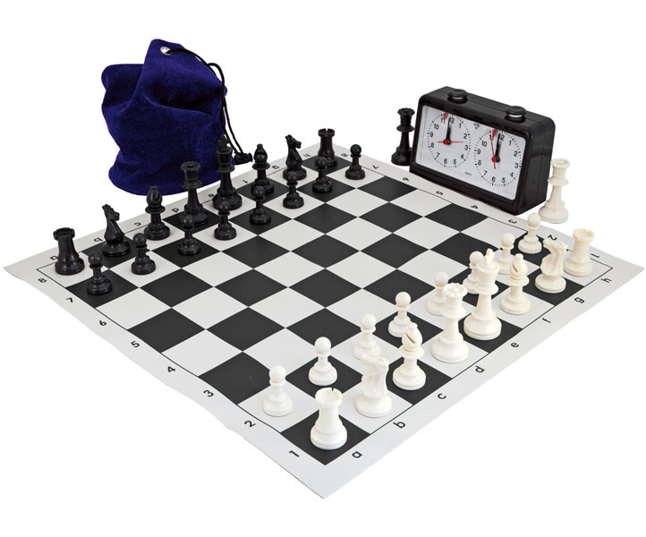 Complete Tournament Chess Set Black