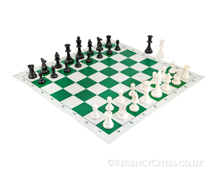 School Tournament Chess Set in Green