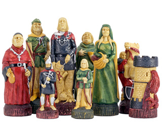 SAC Robin Hood Chess Set Hand Painted