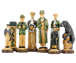 SAC Sherlock Holmes Hand Painted Chess Pieces