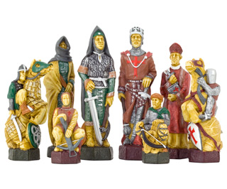 SAC Crusades Chess Set Hand Pained Chess Pieces