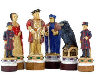 SAC The White Tower Chess Set Hand Painted Chess Pieces